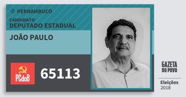 Santinho João Paulo 65113 (PC do B) Deputado Estadual | Pernambuco | Eleições 2018