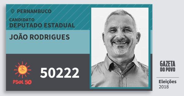 Santinho João Rodrigues 50222 (PSOL) Deputado Estadual | Pernambuco | Eleições 2018