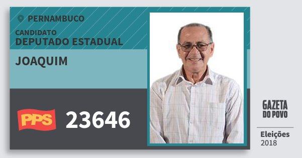 Santinho Joaquim 23646 (PPS) Deputado Estadual   Pernambuco   Eleições 2018