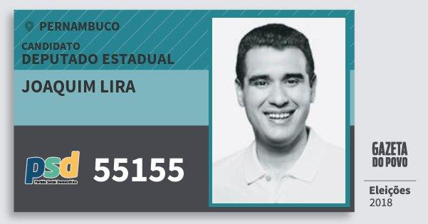 Santinho Joaquim Lira 55155 (PSD) Deputado Estadual | Pernambuco | Eleições 2018