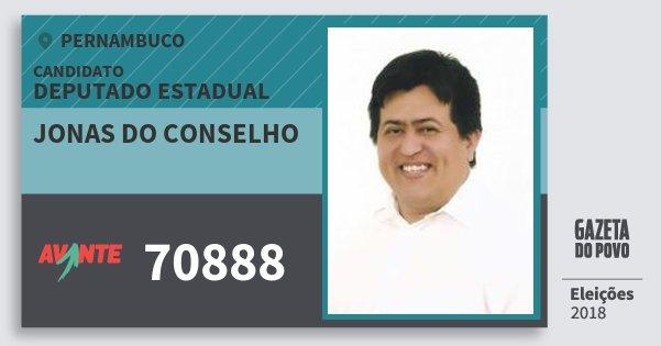 Santinho Jonas do Conselho 70888 (AVANTE) Deputado Estadual | Pernambuco | Eleições 2018