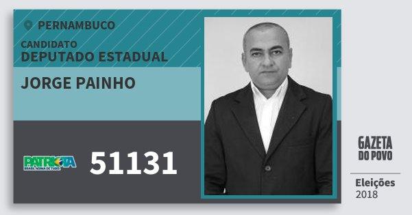 Santinho Jorge Painho 51131 (PATRI) Deputado Estadual | Pernambuco | Eleições 2018