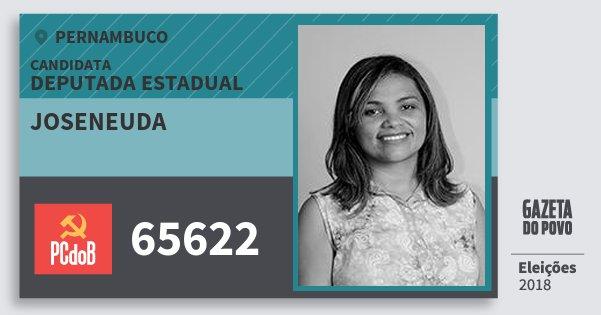 Santinho Joseneuda 65622 (PC do B) Deputada Estadual | Pernambuco | Eleições 2018