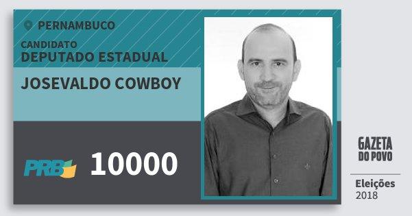 Santinho Josevaldo Cowboy 10000 (PRB) Deputado Estadual | Pernambuco | Eleições 2018
