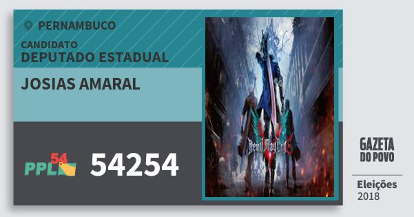 Santinho Josias Amaral 54254 (PPL) Deputado Estadual | Pernambuco | Eleições 2018