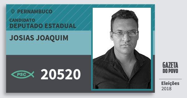 Santinho Josias Joaquim 20520 (PSC) Deputado Estadual | Pernambuco | Eleições 2018