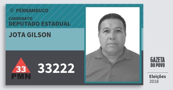 Santinho Jota Gilson 33222 (PMN) Deputado Estadual | Pernambuco | Eleições 2018
