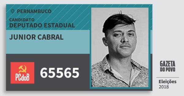 Santinho Junior Cabral 65565 (PC do B) Deputado Estadual   Pernambuco   Eleições 2018