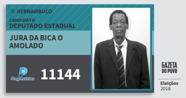 Santinho Jura da Bica O Amolado 11144 (PP) Deputado Estadual | Pernambuco | Eleições 2018