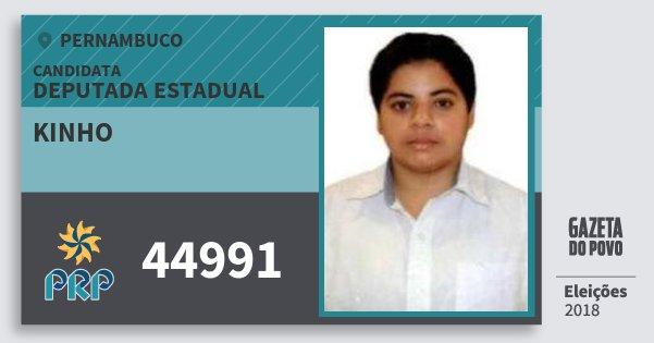 Santinho Kinho 44991 (PRP) Deputada Estadual | Pernambuco | Eleições 2018