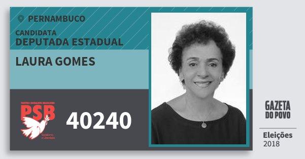 Santinho Laura Gomes 40240 (PSB) Deputada Estadual | Pernambuco | Eleições 2018