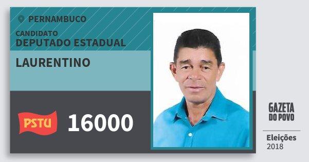 Santinho Laurentino 16000 (PSTU) Deputado Estadual | Pernambuco | Eleições 2018