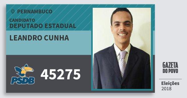 Santinho Leandro Cunha 45275 (PSDB) Deputado Estadual | Pernambuco | Eleições 2018