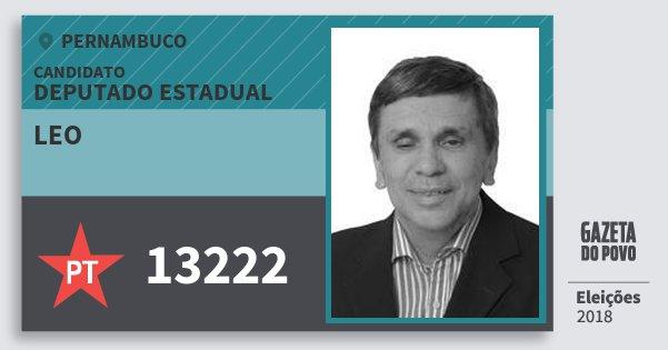 Santinho Leo 13222 (PT) Deputado Estadual | Pernambuco | Eleições 2018