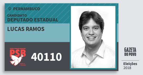 Santinho Lucas Ramos 40110 (PSB) Deputado Estadual | Pernambuco | Eleições 2018
