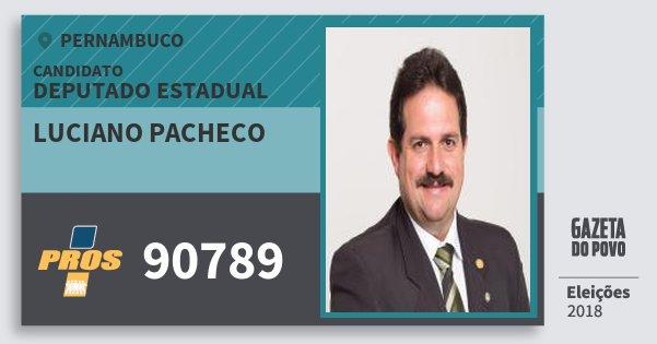 Santinho Luciano Pacheco 90789 (PROS) Deputado Estadual | Pernambuco | Eleições 2018