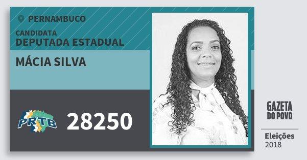 Santinho Mácia Silva 28250 (PRTB) Deputada Estadual | Pernambuco | Eleições 2018