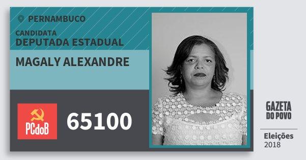 Santinho Magaly Alexandre 65100 (PC do B) Deputada Estadual | Pernambuco | Eleições 2018