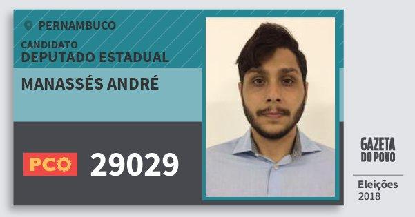 Santinho Manassés André 29029 (PCO) Deputado Estadual | Pernambuco | Eleições 2018