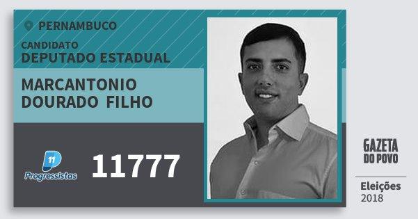 Santinho Marcantonio  Dourado  Filho 11777 (PP) Deputado Estadual | Pernambuco | Eleições 2018