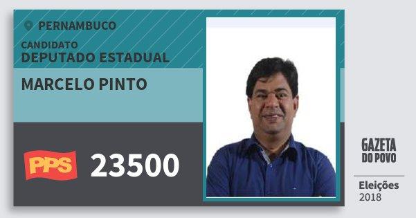 Santinho Marcelo Pinto 23500 (PPS) Deputado Estadual | Pernambuco | Eleições 2018
