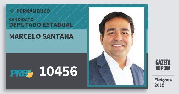 Santinho Marcelo Santana 10456 (PRB) Deputado Estadual | Pernambuco | Eleições 2018