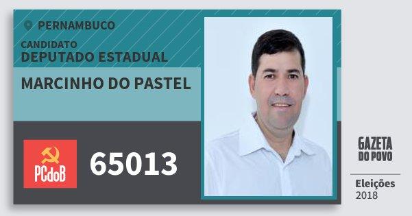 Santinho Marcinho do Pastel 65013 (PC do B) Deputado Estadual | Pernambuco | Eleições 2018