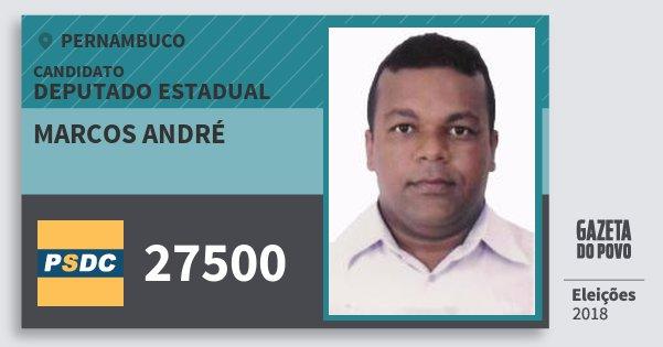Santinho Marcos André 27500 (DC) Deputado Estadual | Pernambuco | Eleições 2018