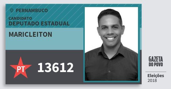 Santinho Maricleiton 13612 (PT) Deputado Estadual | Pernambuco | Eleições 2018