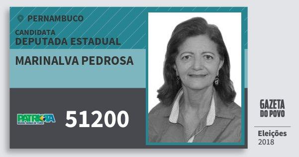 Santinho Marinalva Pedrosa 51200 (PATRI) Deputada Estadual | Pernambuco | Eleições 2018