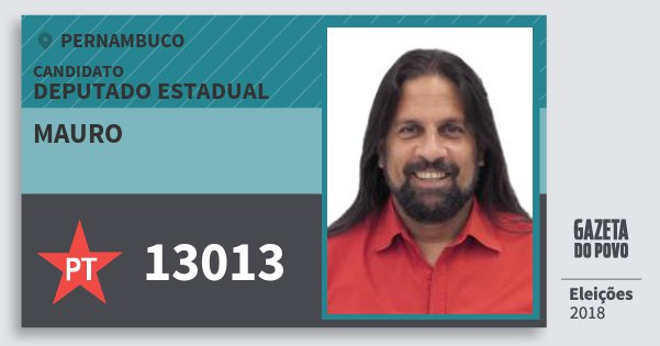 Santinho Mauro 13013 (PT) Deputado Estadual | Pernambuco | Eleições 2018