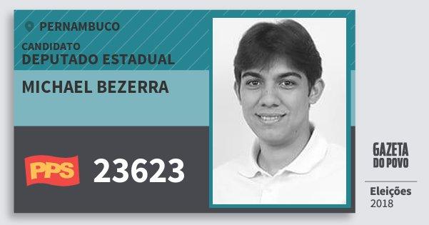 Santinho Michael Bezerra 23623 (PPS) Deputado Estadual | Pernambuco | Eleições 2018