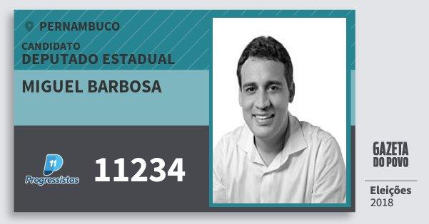 Santinho Miguel Barbosa 11234 (PP) Deputado Estadual | Pernambuco | Eleições 2018