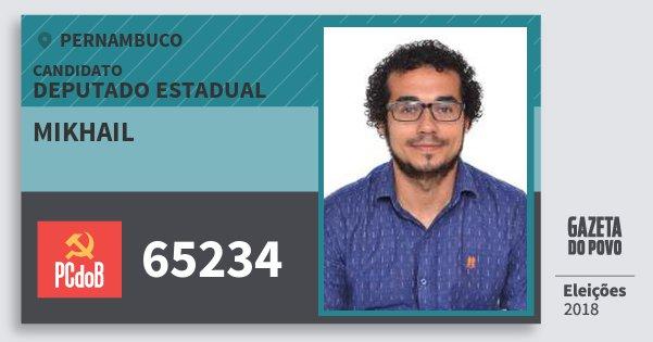 Santinho Mikhail 65234 (PC do B) Deputado Estadual | Pernambuco | Eleições 2018