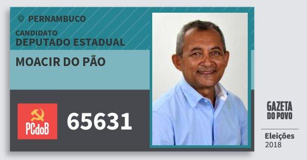 Santinho Moacir do Pão 65631 (PC do B) Deputado Estadual | Pernambuco | Eleições 2018