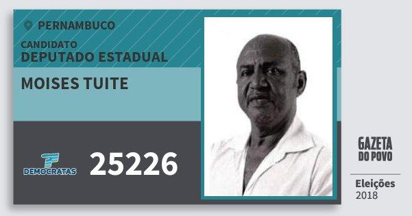Santinho Moises Tuite 25226 (DEM) Deputado Estadual | Pernambuco | Eleições 2018