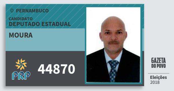 Santinho Moura 44870 (PRP) Deputado Estadual | Pernambuco | Eleições 2018