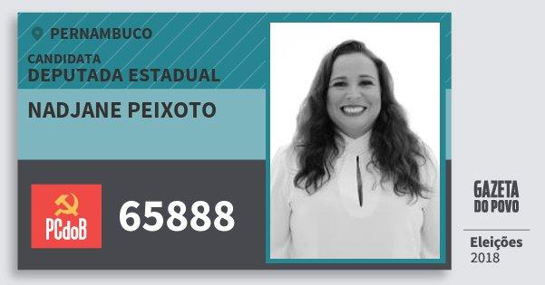 Santinho Nadjane Peixoto 65888 (PC do B) Deputada Estadual | Pernambuco | Eleições 2018