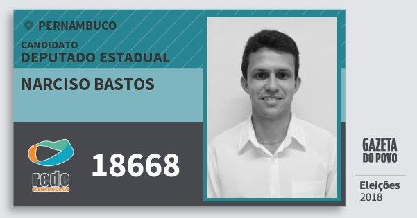 Santinho Narciso Bastos 18668 (REDE) Deputado Estadual | Pernambuco | Eleições 2018