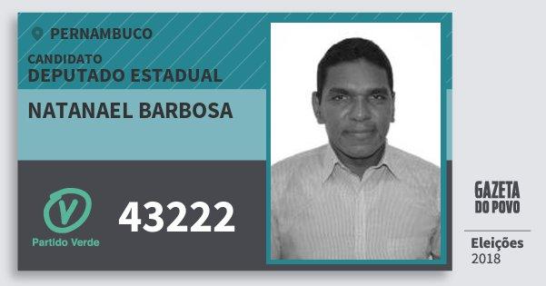 Santinho Natanael Barbosa 43222 (PV) Deputado Estadual | Pernambuco | Eleições 2018