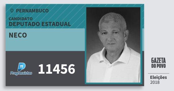 Santinho Neco 11456 (PP) Deputado Estadual | Pernambuco | Eleições 2018