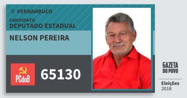 Santinho Nelson Pereira 65130 (PC do B) Deputado Estadual | Pernambuco | Eleições 2018
