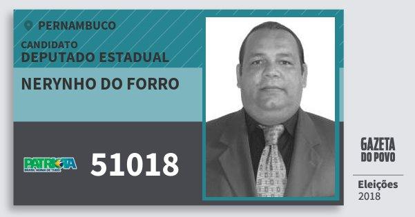 Santinho Nerynho do Forro 51018 (PATRI) Deputado Estadual | Pernambuco | Eleições 2018
