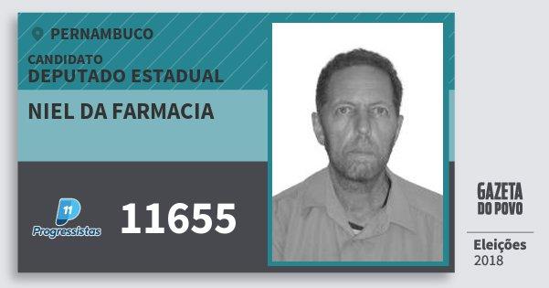 Santinho Niel da Farmacia 11655 (PP) Deputado Estadual | Pernambuco | Eleições 2018