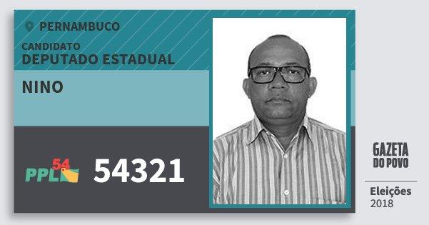 Santinho Nino 54321 (PPL) Deputado Estadual | Pernambuco | Eleições 2018