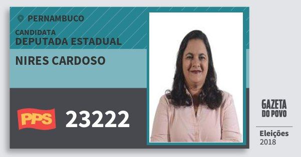 Santinho Nires Cardoso 23222 (PPS) Deputada Estadual | Pernambuco | Eleições 2018