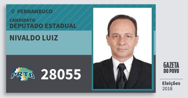Santinho Nivaldo Luiz 28055 (PRTB) Deputado Estadual | Pernambuco | Eleições 2018