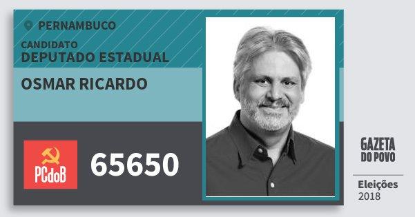 Santinho Osmar Ricardo 65650 (PC do B) Deputado Estadual | Pernambuco | Eleições 2018