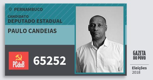 Santinho Paulo Candeias 65252 (PC do B) Deputado Estadual | Pernambuco | Eleições 2018