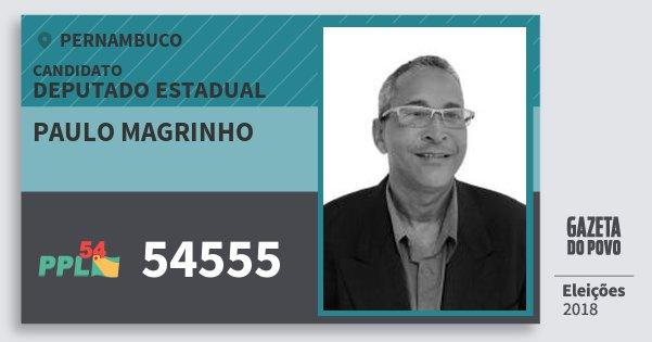 Santinho Paulo Magrinho 54555 (PPL) Deputado Estadual | Pernambuco | Eleições 2018
